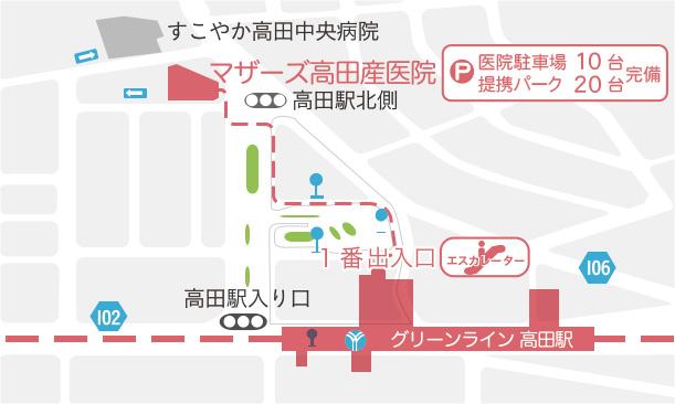 マザーズ高田産医院 川崎市周辺地図